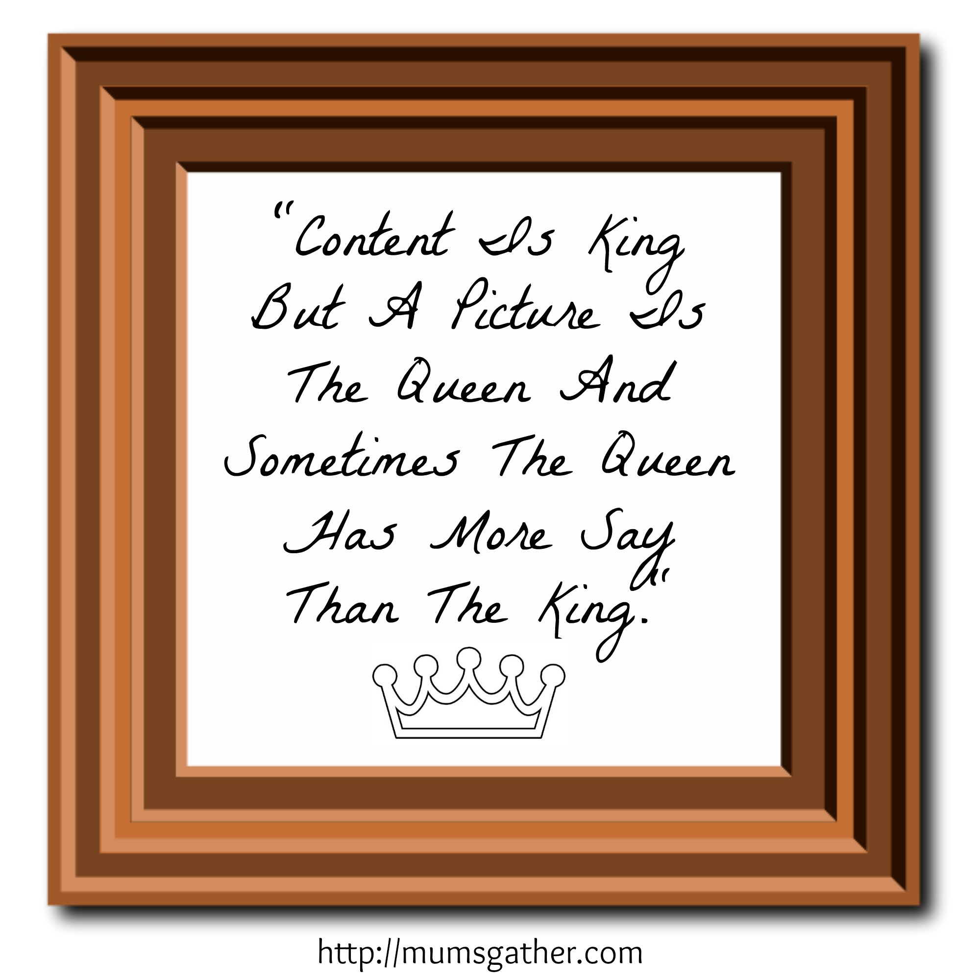 Content Is King But A Picture Is The Queen