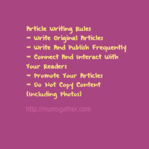 article writing rules